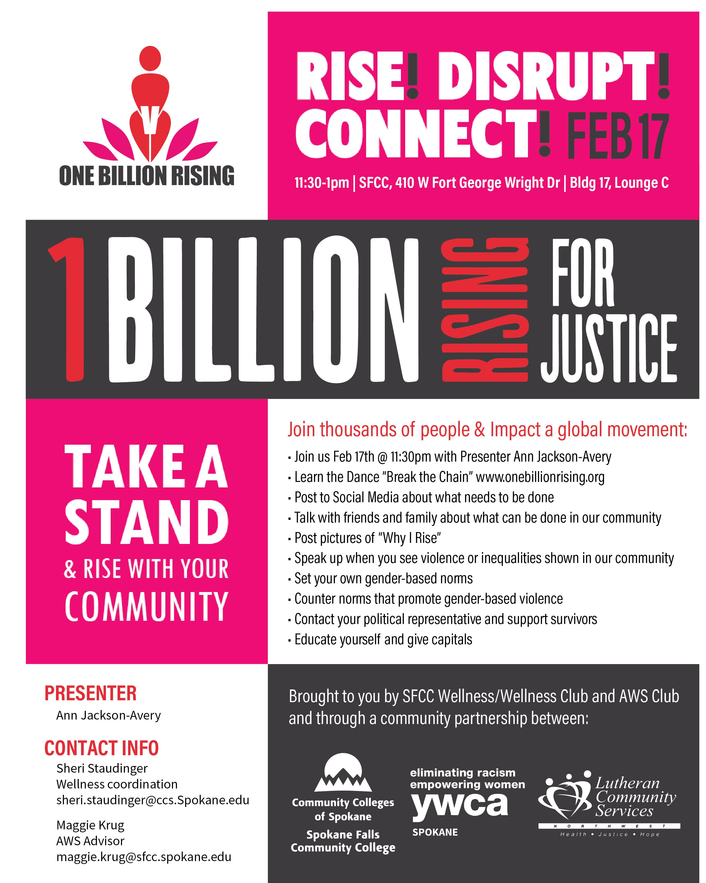 1 Billion Rising Flyer 2017