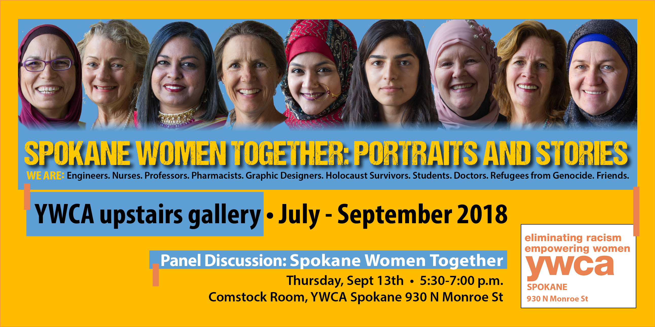 Panel Discussion at YWCA for Spokane Women Together: Portraits and Stories @ YWCA Spokane Upstairs Gallery