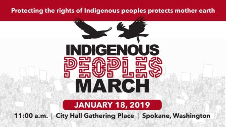 Indigenous People's March @ pin Spokane Tribal Gathering Place