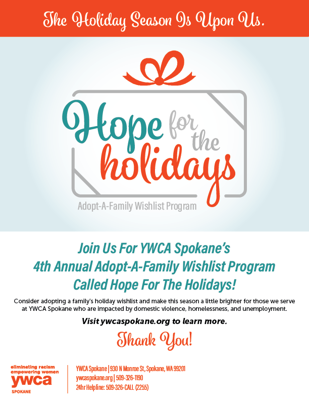 Hope For The Holidays 2019 Flyer Inviting Community To Adopt A Family Wishlist This Holiday/